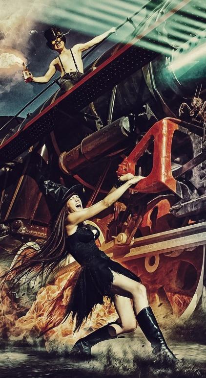 Train molotov witch